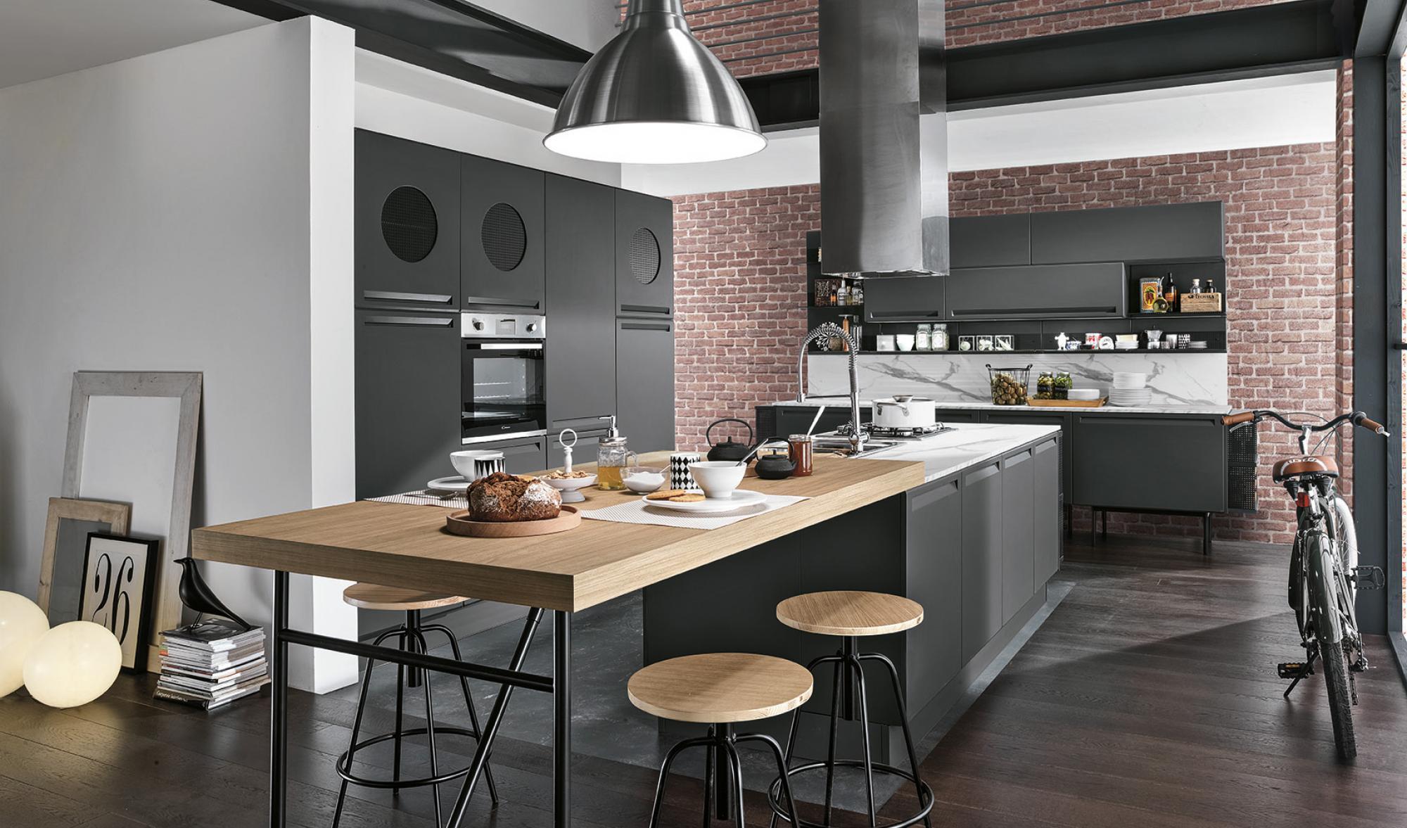 Isla - Kitchens - Modern Kitchens - Colombini Casa - Black - Wood