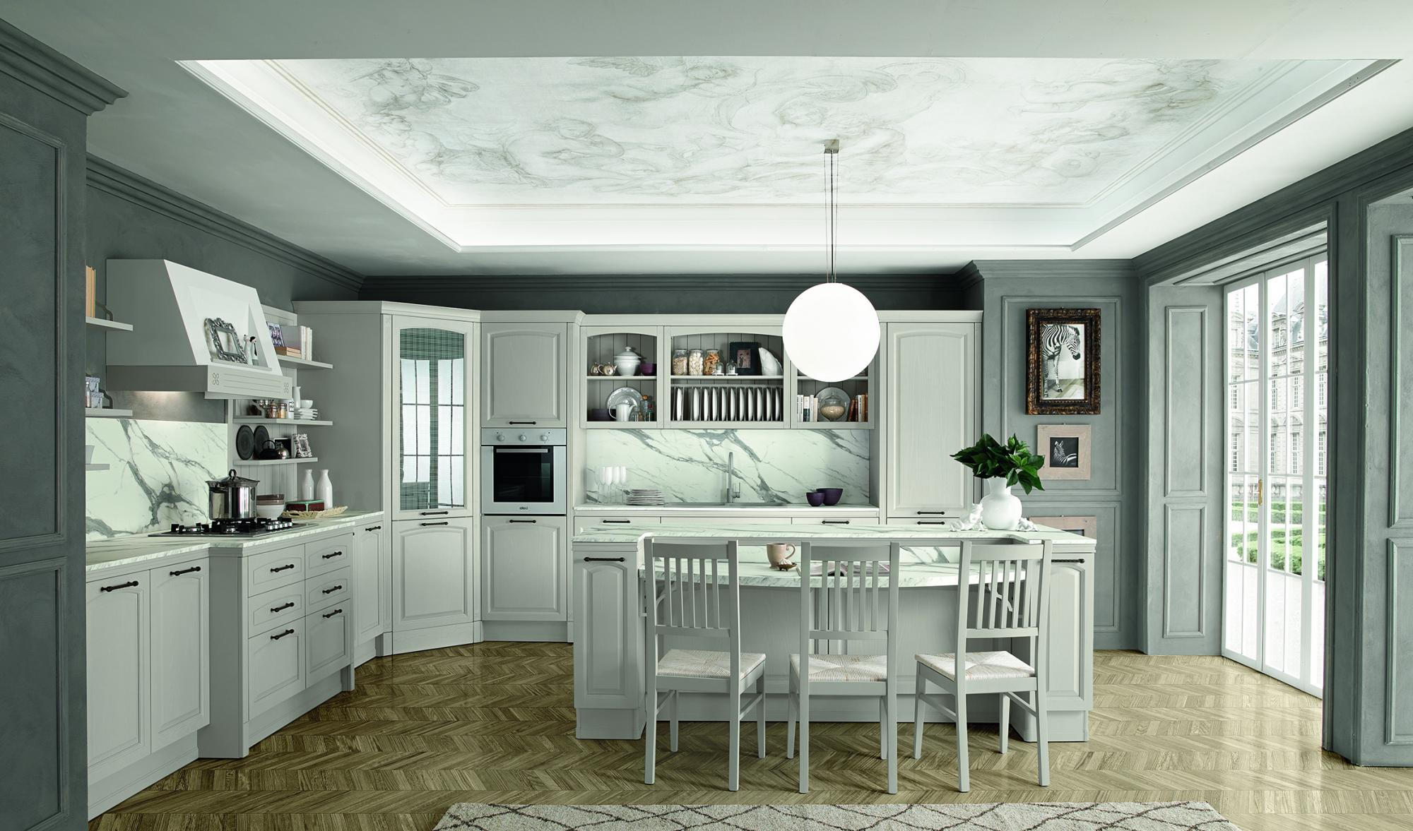 Mida - Kitchens - Classic Kitchens - Colombini Casa - White - White marble