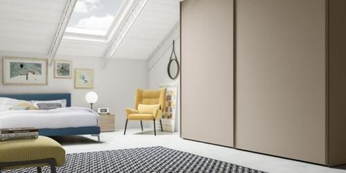 Armadi scorrevoli - armadio moderni - anta scorrevole - Marka - Total living - armadio a muro - armadio camera da letto - vicenza - armadio scorrevole 3 ante - specchio