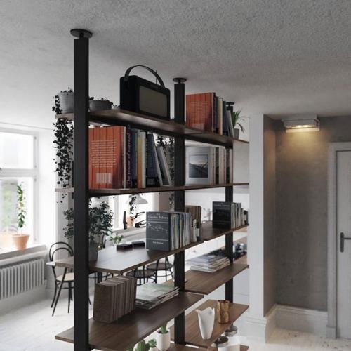 metal - wood - metal and wood shelves - boocase shelves - bookcase design - bookcase shelf - modern furniture
