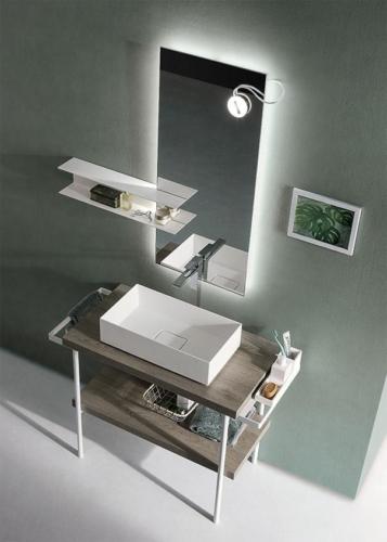 bathroom - design - furniture - mirrors - bath lavabos