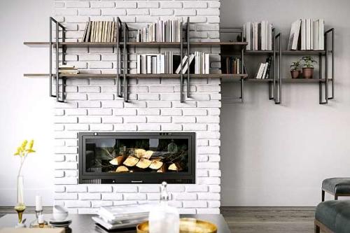 Struttura in ferro e legno - Damiano Latini -Parete attrezzata - Shell