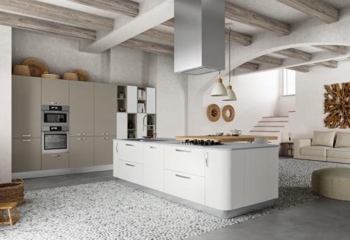 Colombini cucina moderna bianca tonda