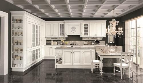 Cucine - Cucine classiche - cucine country - cucina stile shabby - Colombini casa - Opera - bianca