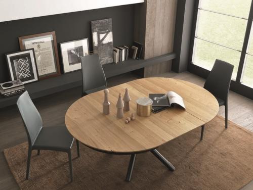 Tavolo - Altacom - fisso - allungabile - laminato - legno - ferro - Fahrenheit Round