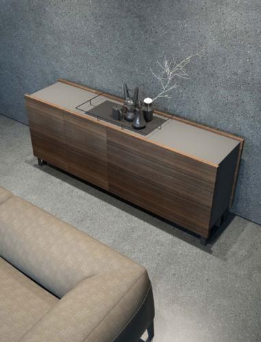 mobili - soggiorno -parete attrezzata - ferro - legno - Granzotto - Iron wood day - essential 8