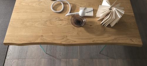 Tavolo - Altacom - fisso - allungabile - laminato - legno - ferro - Meridiano