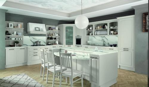 Cucine - Cucine classiche - cucine country - cucina stile shabby - Colombini casa - Mida - bianco