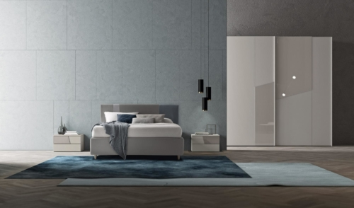 double room - night furniture - dressers - nightstands - mattress - Modern bedrooms - contemporary environments - wooden and upholstered double beds - dressers - nightstands - high chests
