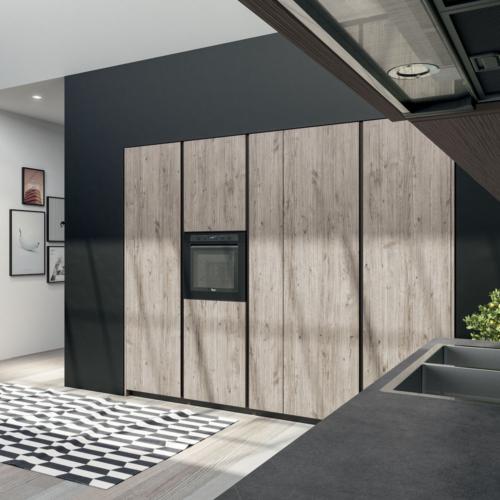 Arredamento - Cucine moderne - cucina con gola - Gentili Group - Time Gola - cemento - legno