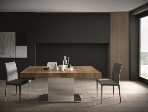 Tavolo - Altacom - fisso - allungabile - laminato - legno - ferro - Tower