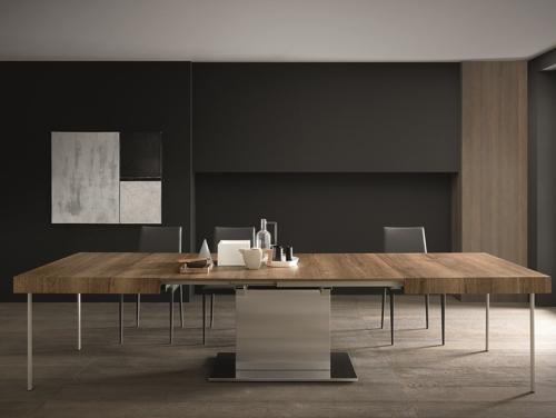 Tavolo - Altacom - fisso - allungabile - laminato - legno - ferro - Tower Maxi