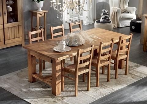 Tavolo legno - massiccio - massello - Woodheart - rovere - luberon