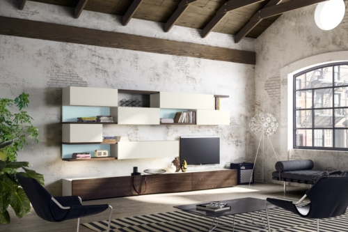 modern wall units - modern living mobili - modern furniture - wood furniture - modern bookcases - vicenza