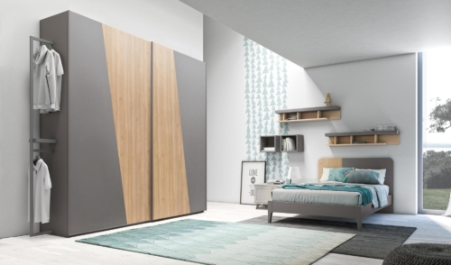 bedroom furniture - kids furniture - grey - wood