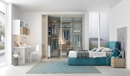 bedroom furniture - kids furniture - light blue - white - grey