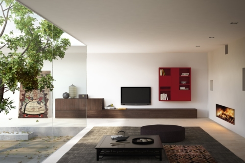 modern wall units - modern living mobili - modern furniture - wood furniture - modern bookcases - vicenza