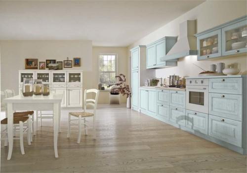 Cucine classiche - Cucine provenzale - Gentili Cucine - Romantica - azzurra