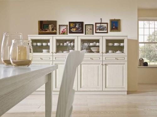 Cucine - cucine country - cucina stile shabby - provenzale - Gentili Cucine - Romantica - decape caffelatte e bianco giglio