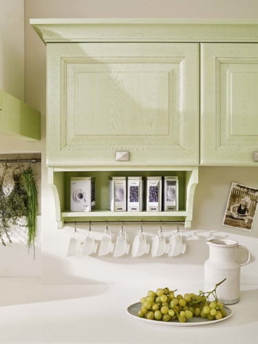 Cucine - cucine country - cucina stile shabby - provenzale - Gentili Cucine - Romantica - decape verde acqua