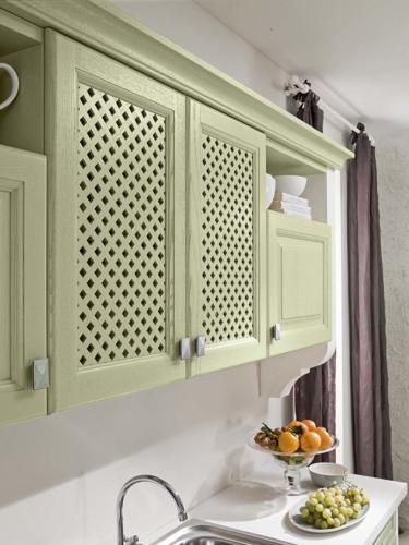 Cucine - cucina stile shabby - provenzale - Gentili Cucine - Romantica - decape verde acqua