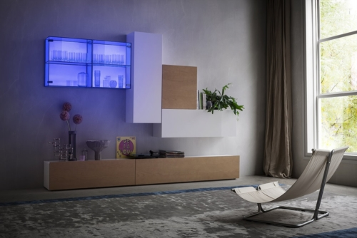 Modern furniture - modern living - suspended - wall living