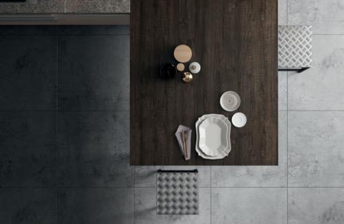 Cucine - Cucine moderne - cucina con maniglia - Gentili Group - Time maniglia - rovere termocotto - laccato bianco - gesso lucido - top pietra piasentina