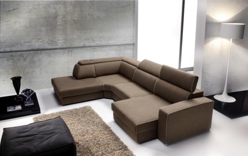 Divano - Eurosalotto - Allen - divano 4 posti con movimenti - seduta e poggiatesta