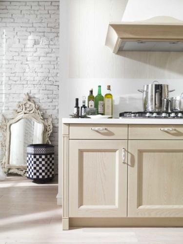 Cucine - cucine country - cucina stile shabby - provenzale - Gentili Cucine - Village - decapè caffelatte